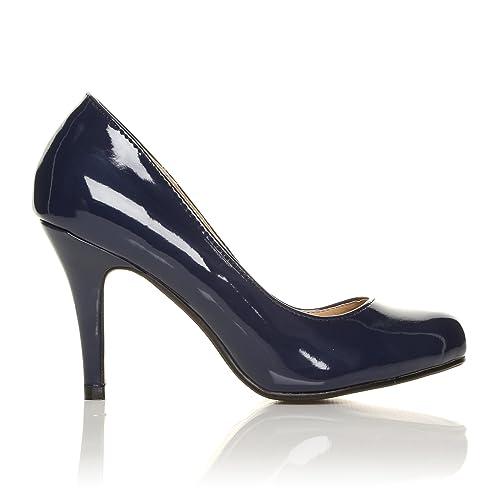 Scarpe da Donna in Similpelle Blu Mare Mare Mare Perlato con Tacco a Spillo   be2913