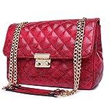 Hemss Fashion Lingge Chain Bag Shoulder Bag Diagonal Package Rain Pattern For Girl