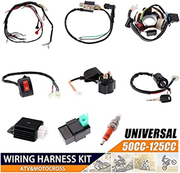 Amazon.com: Electrics Motorcycle Wiring Harness Set for 50cc 70cc 90cc  110cc 125cc ATV Electric Stator CDI Coil ATV Quad Bike Buggy Go Kart Wire  Connector Parts KAOLALI: AutomotiveAmazon.com