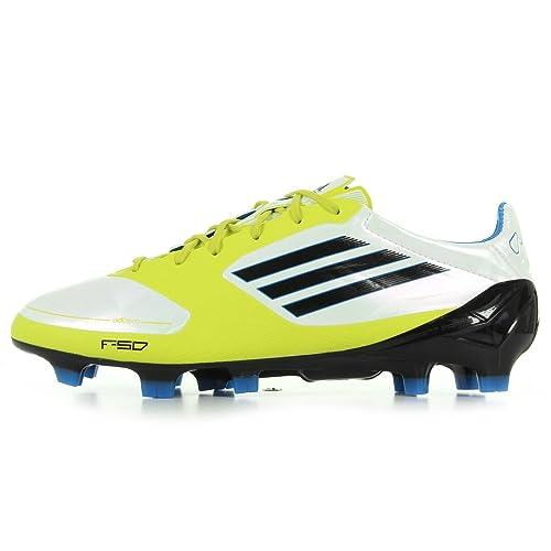 hot sale online 332e6 61d96 adidas F50 Adizero TRX FG Syn Mic - Botas de fútbol Americano de Piel para  Hombre Blanco Blanco, Color Blanco, Talla 46 Amazon.es Zapatos y  complementos