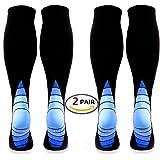Calves Kelson (2 pairs Compression Socks/Stockings for Men & Women,Better Blood Circulation