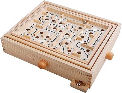 Toyvian Juego de Madera Maze Puzzle Varita Laberinto Juego Juguete para niños Juguete Educativo para niños niñas Adultos: Amazon.es: Juguetes y juegos