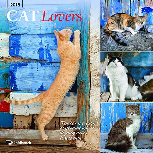 "Goldistock ""Cat Lovers"" Eco-friendly 2018 Large Wall Calendar - 12"" x 24"" (Open) - Thick & Sturdy Paper - Purrfect for Cat Lovers"