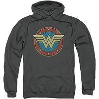 Popfunk Wonder Woman Logo DC Comics Pullover Hoodie Sweatshirt & Stickers