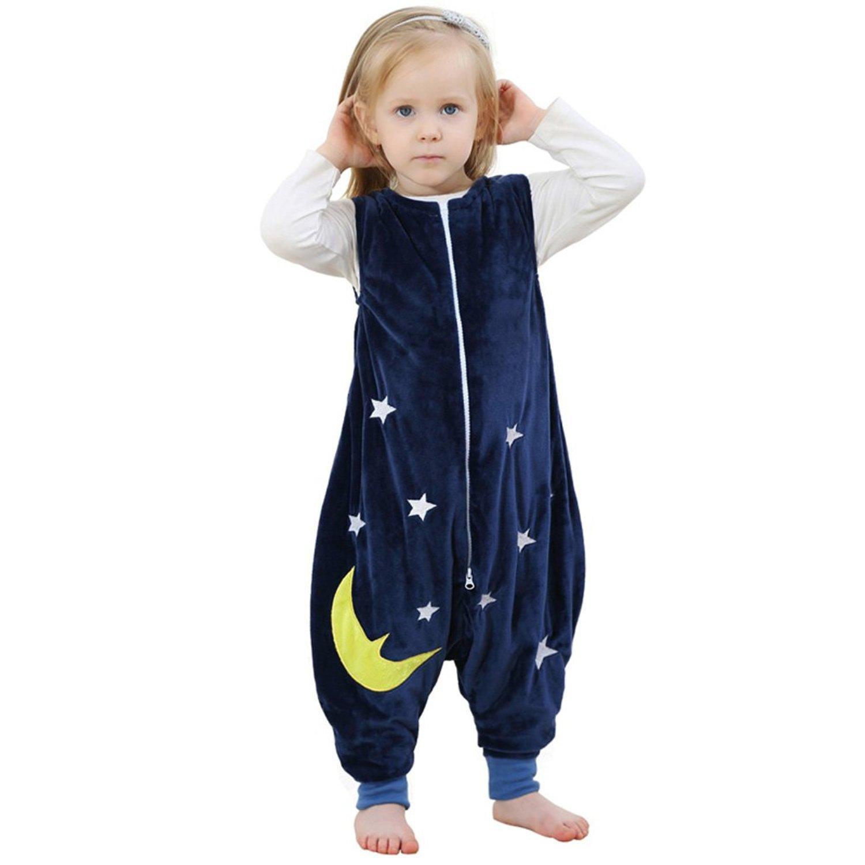 ZEEUAPI - Saco de dormir con piernas de franela para bebés niños infantíl Ropa para dormir (L (5-6 años), Rosa-globo): Amazon.es: Hogar