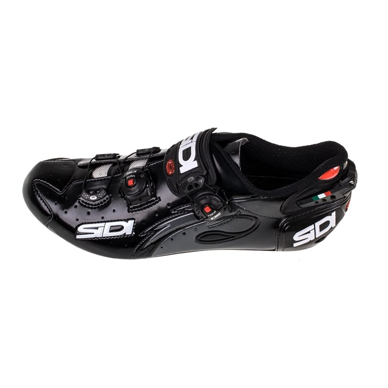Amazon.com: Sidi Wire Carbon Vernice Road Shoe Black (Men\'s Euro 45 ...