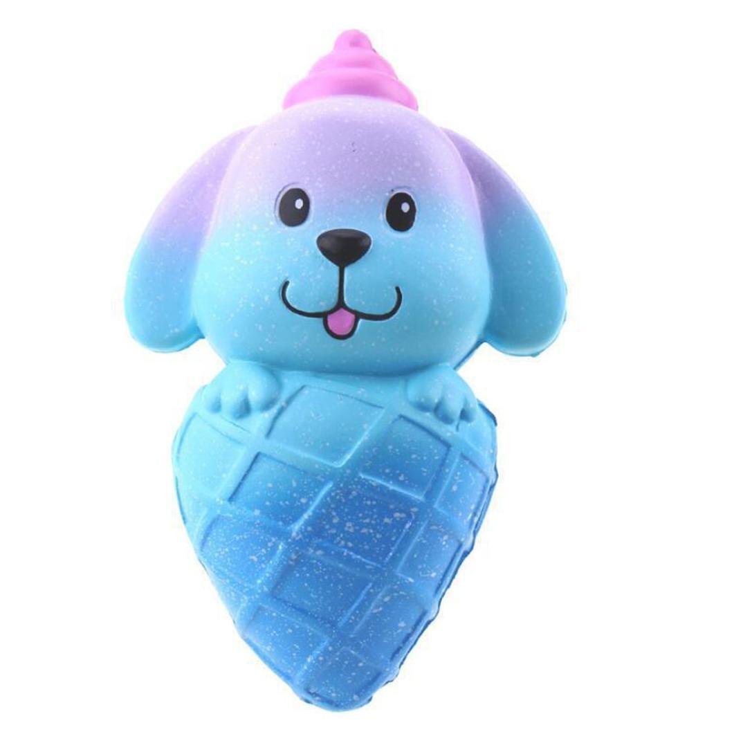 titcoolジャンボSquishy Toy Slow Rising、かわいい従順わんこChildren Gifts Stress Relief Toys M ブルー Squishy Toy B07CSPBRMV 16701  ブルー