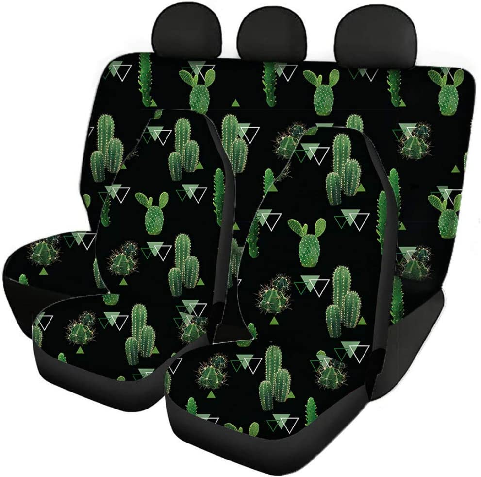 FKELYI Auto Universal Seat Protector Covers African Tribal Design Front//Rear Seat Cushions Set of 3PCS Bucket Seat Cover Horse Dreamcatcher Pattern