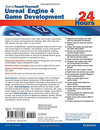 Amazon com: Unreal Engine 4 Game Development in 24 Hours, Sams Teach