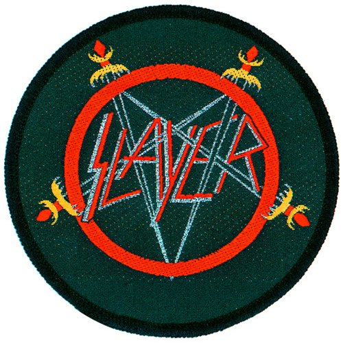 Slayer - Patch Logo (in 100% Cotton) by Hard Days Night Shop