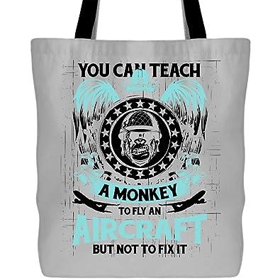 Amazon.com: Una mono puede volar una bolsa de avión – bolsa ...