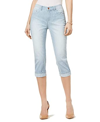 10918126 LEE Platinum Petite Cameron Stretch Cropped Jeans at Amazon Women's Jeans  store