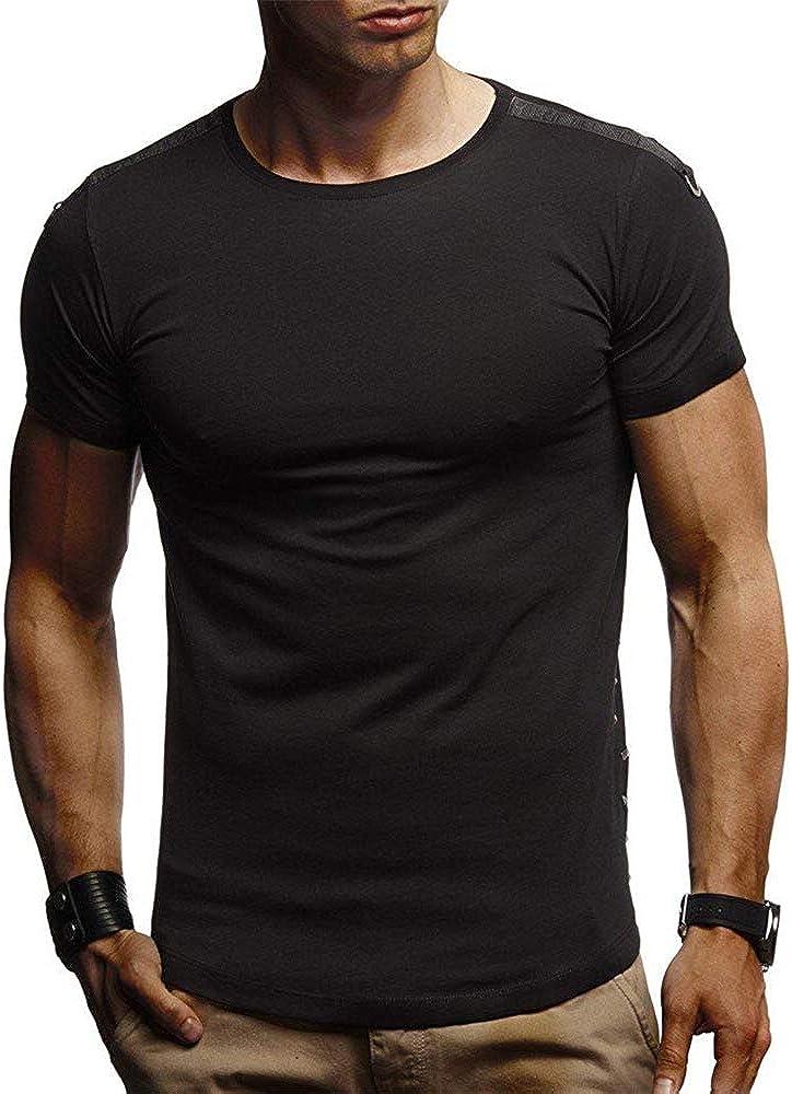 Camisetas Hombre Verano, Lunule Camiseta Deporte Hombre Manga Corta Camiseta Basica de Músculo Slim Fit Casual Tops Deportivos para Hombre: Amazon.es: Ropa y accesorios
