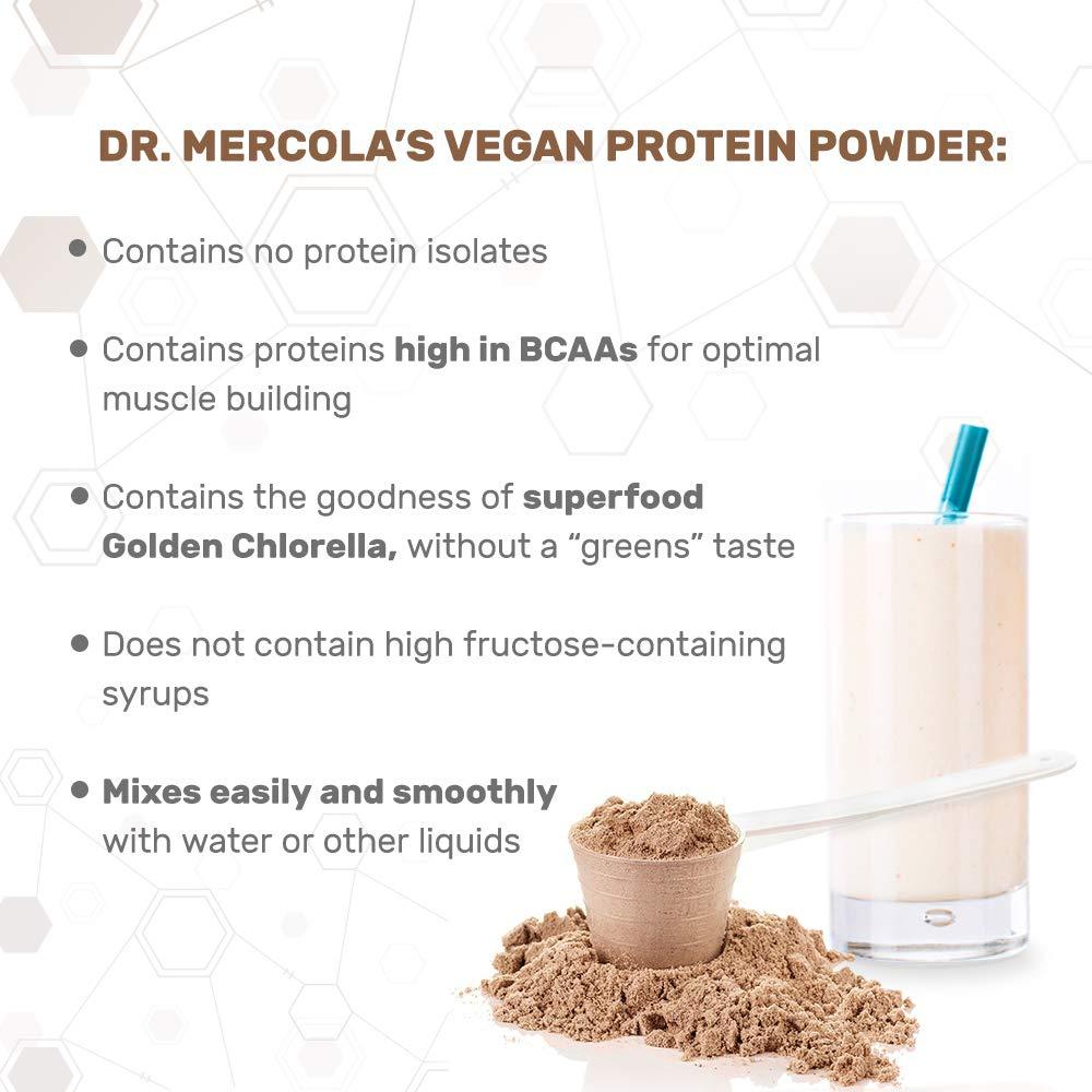 Dr Mercola Vegan Protein Vanilla (Blend of Pea, Hemp, Chia, Chlorella & Potato Proteins, 690g) by Dr. Mercola: Amazon.es: Salud y cuidado personal