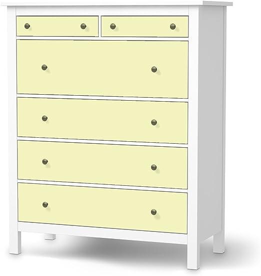 Diapositiva IKEA Hemnes cómoda{6} cajones/diseño adhesivo amarillo ...