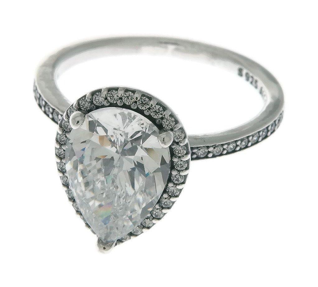 0176945d4 Amazon.com: PANDORA Radiant Teardrop Ring, Clear CZ 196251CZ-60 EU 9 US:  Jewelry