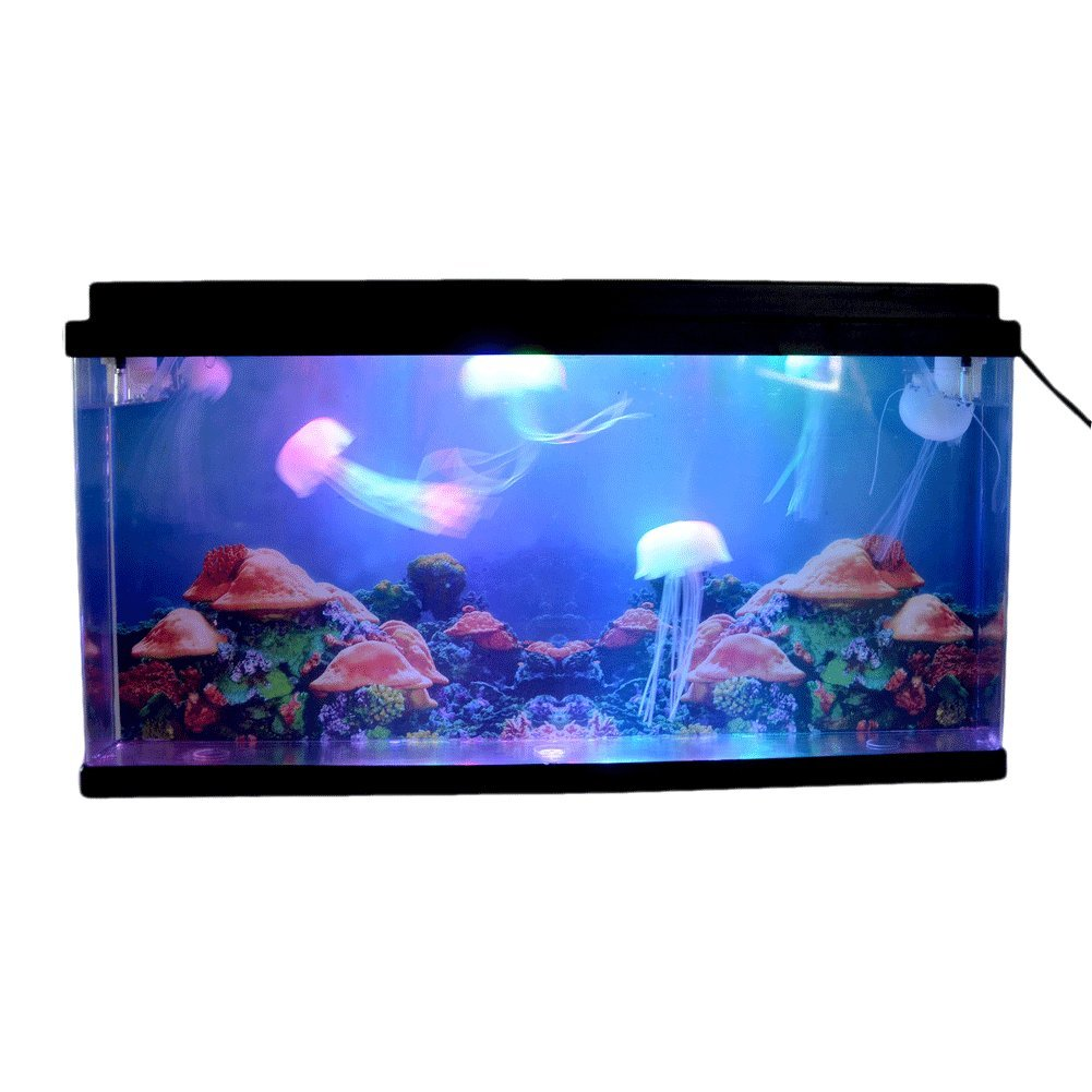 Amazon.com : Giant Artificial Jellyfish Aquarium Tank Sea World Swimming Mood  Lamp Nightlight LED Light Multicolor : Pet Supplies