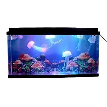 Gigante Artificial medusas acuario tanque Mar mundo natación Mood luz nocturna lámpara LED luz multicolor: Amazon.es: Productos para mascotas
