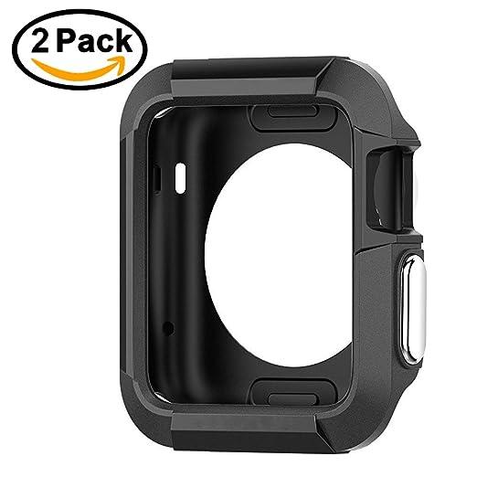 8 opinioni per [2 Pack] iVoler Custodia Cover per Apple Watch Series 2 (42mm) / Series 1