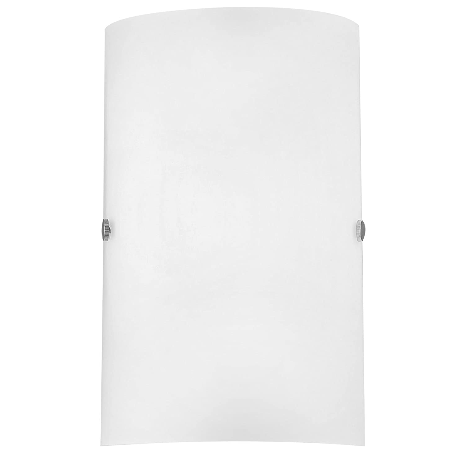 Eglo Troy Model Wall Light 85979 / Steel Nickel-Matt/Glass Satinised White/HV 1 x E14 max. 60W / excluding Bulb/L 18 cm H 25 cm A 7.5 cm [Energy Class D] Beco GmbH & Co. KG