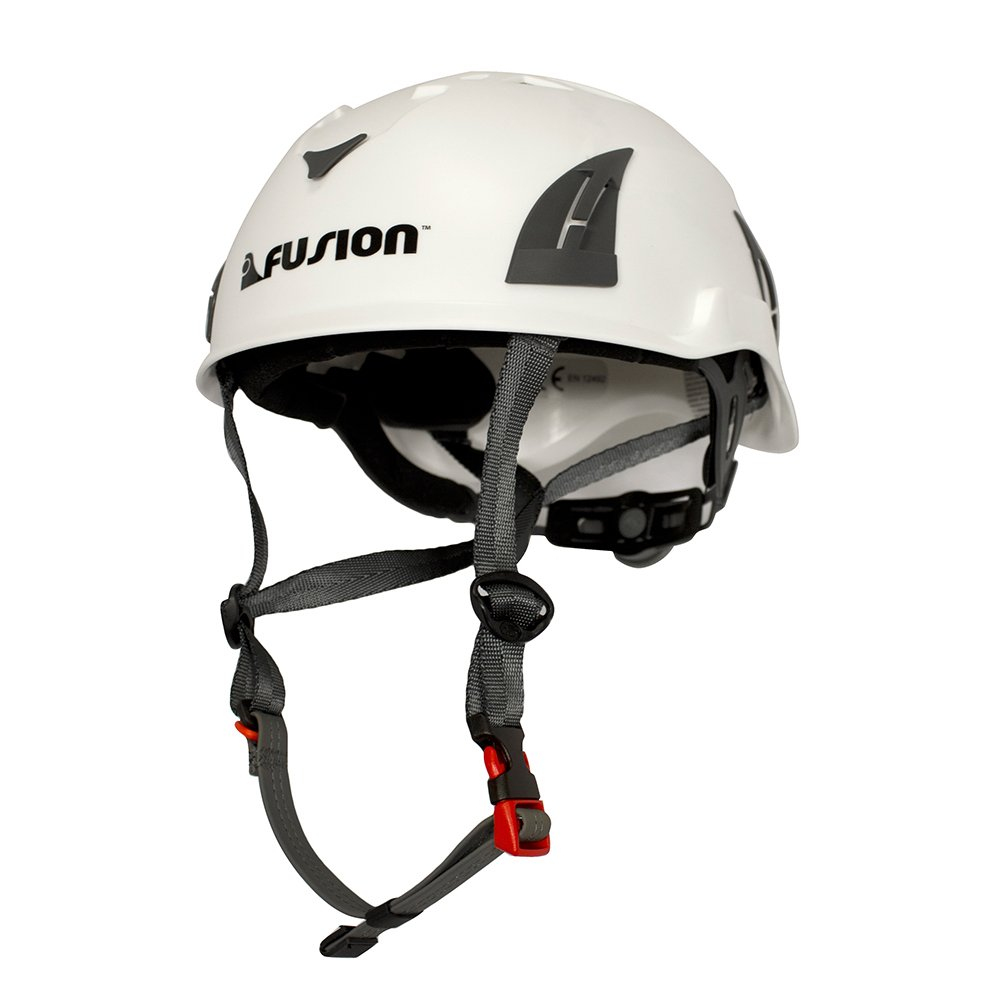 Fusion Climb Meka Climbing Bungee Zipline Mountain Construction Safety Protection Helmet White by Fusion Climb