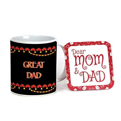 Buy Indigifts Fathers Day Gifts From Daughter Great Dad Beautiful Coffee Mug 330 Ml Black Gift For Best Dad Papa Father In Law Grandfather Birthday Gifts Parents Anniversary Gift Online At Low Prices In India