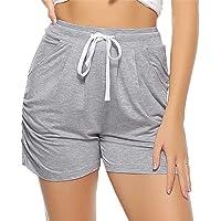 Aiboria Shorts de Verano para Mujer, Algodón Pantalones Deportivo Corto para Mujer Casual Pantalones Deportes Fitness