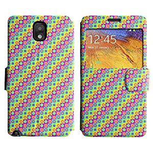 Be-Star Diseño Impreso Colorido Slim Casa Carcasa Funda Case PU Cuero - Stand Function para Samsung Galaxy Note 3 III / N9000 / N9005 ( Colorful Lollipops )