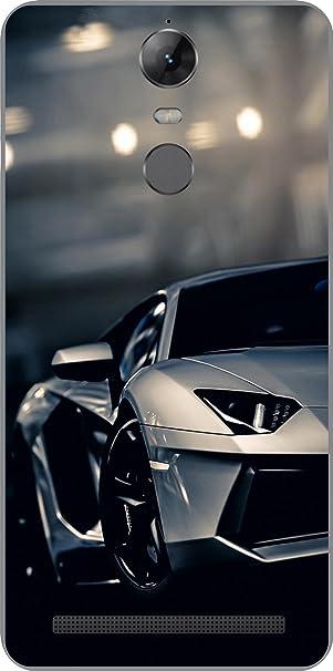 Shengshou Sports Car Design Mobile Back Cover for Lenovo Vibe K5 Note 2017   Black Grey