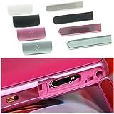 SONY Xperia A SO-04E (M36h) 専用 サイド キャップ カバー (イヤホン プラグ & micro USB 端子) 2点 セット ソニー エクスペリア エース 互換品 (ブラック)