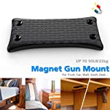 2-Pack Gun Magnet Mount, 50 Lbs Rating,Rubber