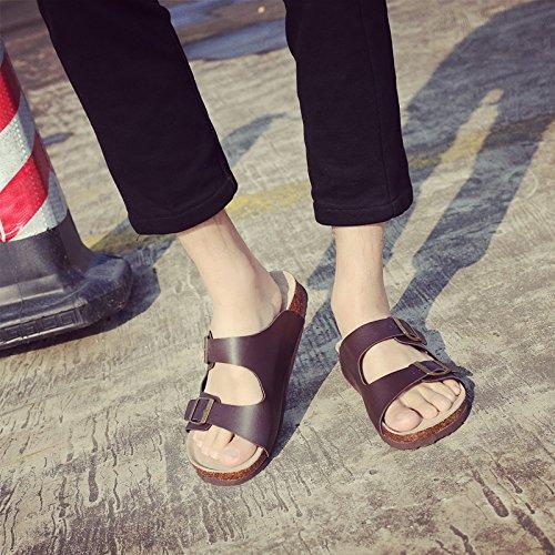 Les Les Chaussures Plage Sandales Et Standard Femme Couples Double Pour Chaussons Télévision Lin 101 Ma Idéal Antidérapant Fixation De Sandales En Cuir Xing Pour 42 Hommes L'Été Chaussons Cool Cork w7ZqaXA