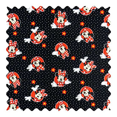 SheetWorld 100% Cotton Percale Fabric by The Yard, Minnie Mouse Dots, 36 x - Fabric Percale