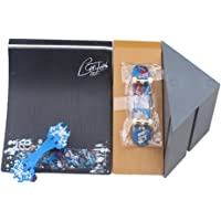 Remeehi Skateboard Quarter Pipe Ramp With Fingerboard Swing Board Toy Playset