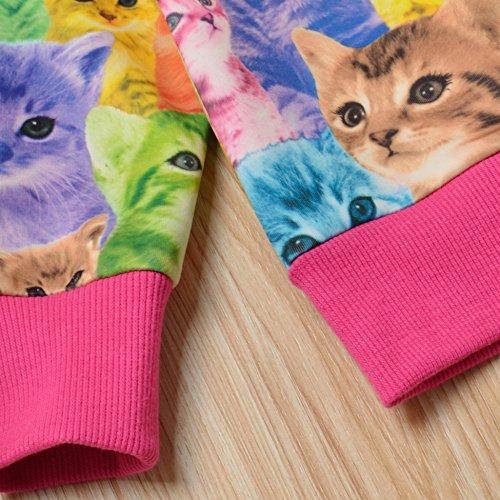 Jxstar Little Girls Cat Jacket Coat Long Sleeve Full Zip Hoodie Outwear Pocket by Jxstar (Image #8)
