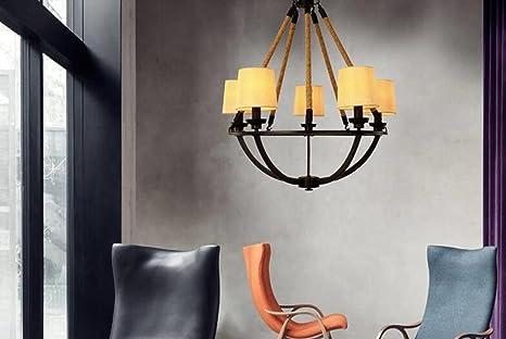 Lampadari in ferro funebre di canapa da industria illuminazione