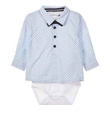 748326ba033fe7 NAME IT Baby Jungen Hemd-Body mit Fliege Taufhemd NBMRUSK  Amazon.de   Bekleidung