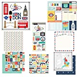 Scrapbook Customs Themed Paper and Stickers Scrapbook Kit, London City Memories