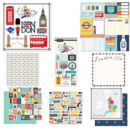 Scrapbook Customs Themed Paper and Stickers Scrapbook Kit, London City Memories ()