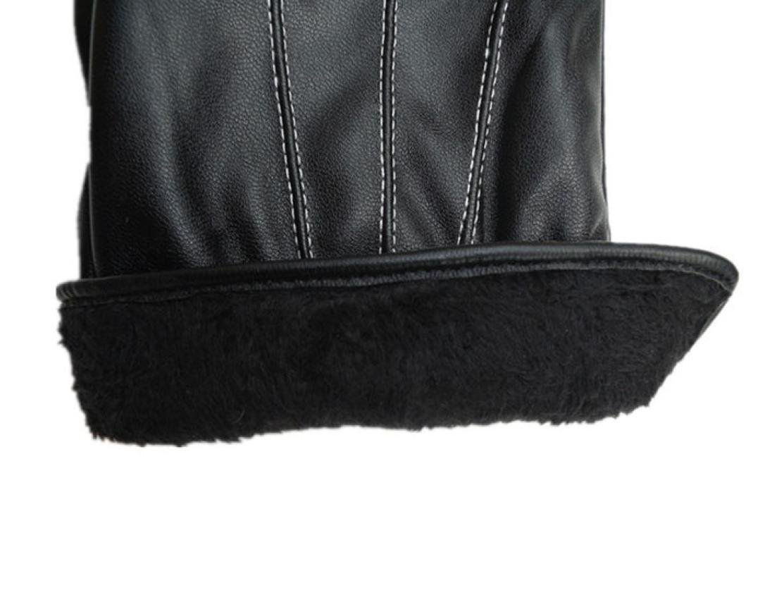 Perman Mens Luxurious PU Leather Winter Super Driving Warm Gloves Cashmere Vogue by Perman (Image #6)