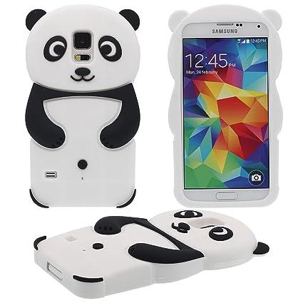 Samsung Galaxy S5 Carcasa 3D Panda Forma Serie Silicona Gel ...
