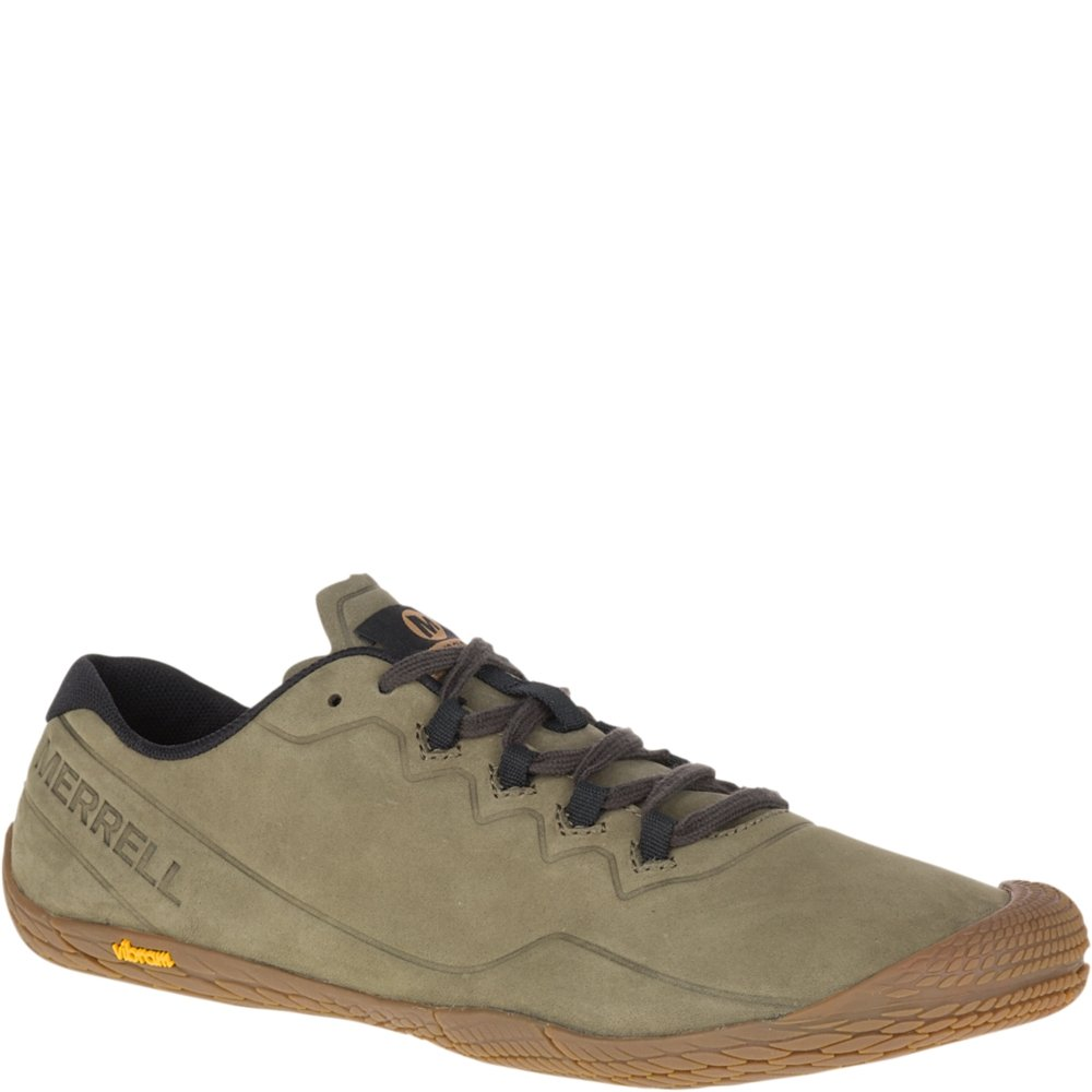 Merrell Men's Vapor Glove 3 Luna Leather Sneaker B078NGMR44 15 D(M) US|Dusty Olive