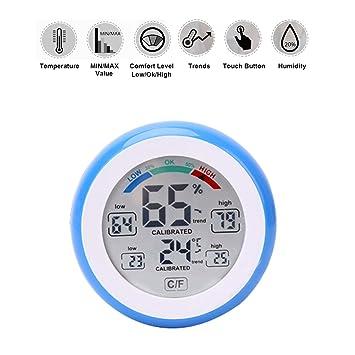 Digital Thermometer Hygrometer Temperatur Feuchtigkeits Messgerat