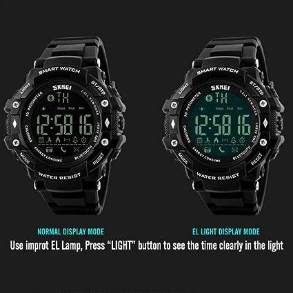 Amazon.com: Smart Digital Watch 5ATM Waterproof Sport ...