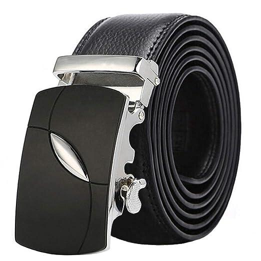 Heqianqian Cinturones de Hombre Cinturón de Hebilla automática de ...