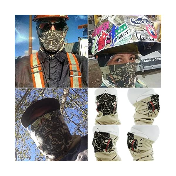 BENCHMARK FR Flame Resistant Face Mask Neck Gaiter, One Size, Soft FRC 5
