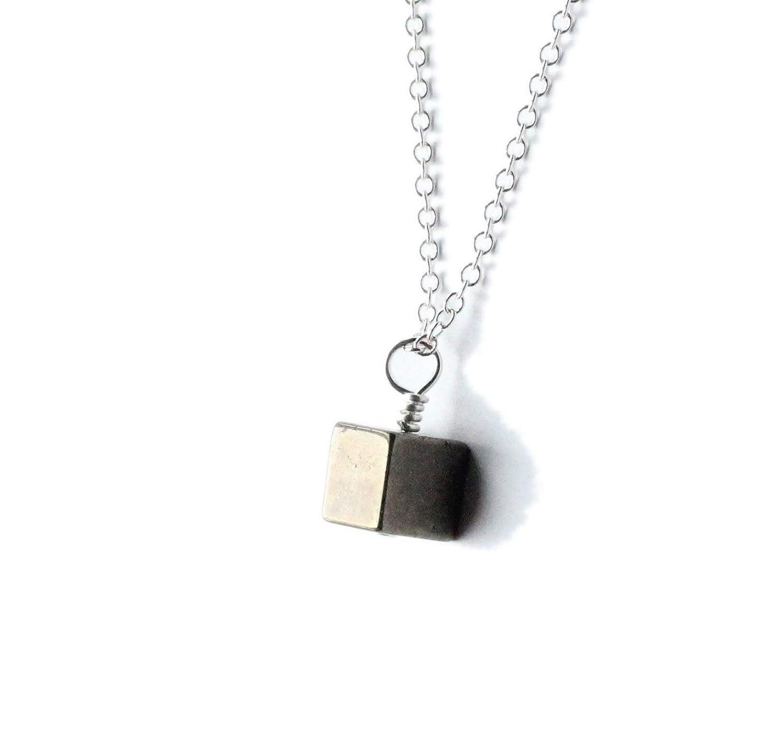 Energy Shield Block Negative Energy Gemstone Empath Pyrite Necklace