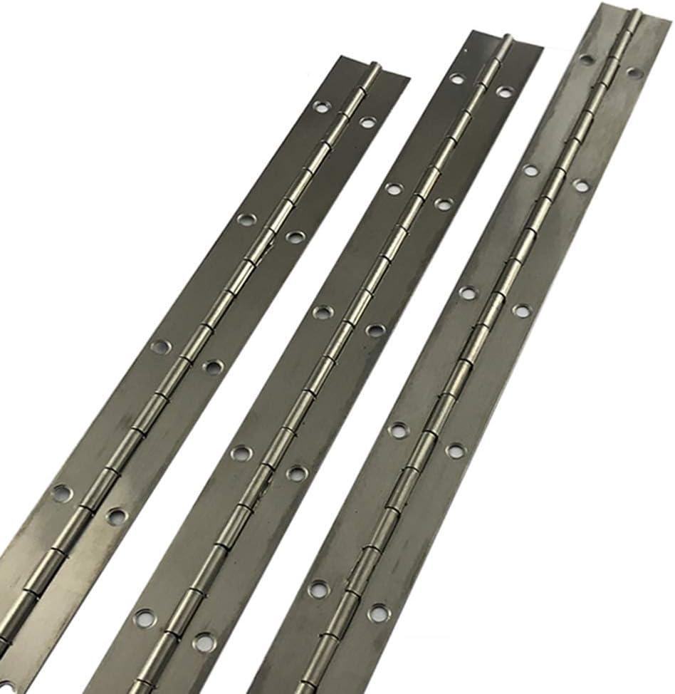 Ventanas Grandes 1800 AMZH Bisagra para Piano Longitud 1800 mm Despliegue Ancho 38 mm Material de Acero Inoxidable Bisagra Larga Adecuado para Puertas de Armario 38 0.8mm A Pianos