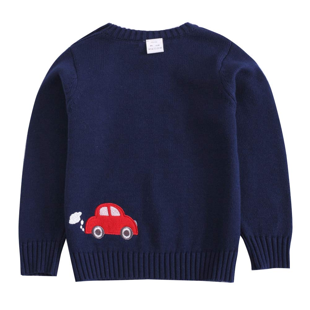 Happy Cherry Kids Boys Knit Sweater Crewneck Cotton Warm Pullover Sweatshirt