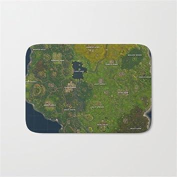 Amazonde Fortnite Schlacht Royale Karte Badezimmer Bad Fußmatte